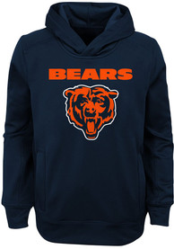 Chicago Bears Youth Goal Line Stand Hooded Sweatshirt - Navy Blue
