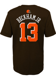 Odell Beckham Jr Cleveland Browns Boys Outer Stuff Name and Number T-Shirt - Brown