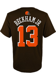 Odell Beckham Jr Cleveland Browns Youth Name and Number T-Shirt - Brown
