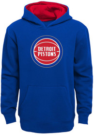Detroit Pistons Youth Prime Hooded Sweatshirt - Blue