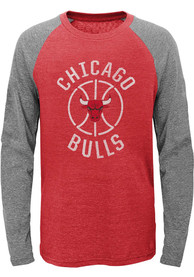 Chicago Bulls Youth Fadeaway T-Shirt - Red