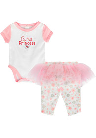 Kansas City Chiefs Infant Girls Post Princess Top and Bottom - Pink