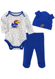 Kansas Jayhawks Infant Greatest Lil Player Top and Bottom - Blue