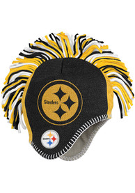 Pittsburgh Steelers Youth Mohawk Knit Hat - Black