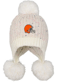 Cleveland Browns Youth Mini Multi-Pom Knit Hat - White