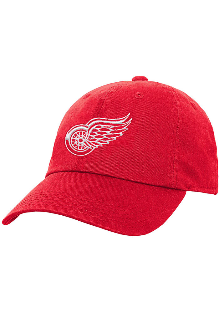 Detroit Red Wings Red Slouch Youth Adjustable Hat - Image 1