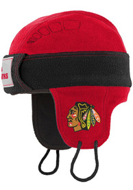 Chicago Blackhawks Youth Hockey Helmet Knit Hat - Black