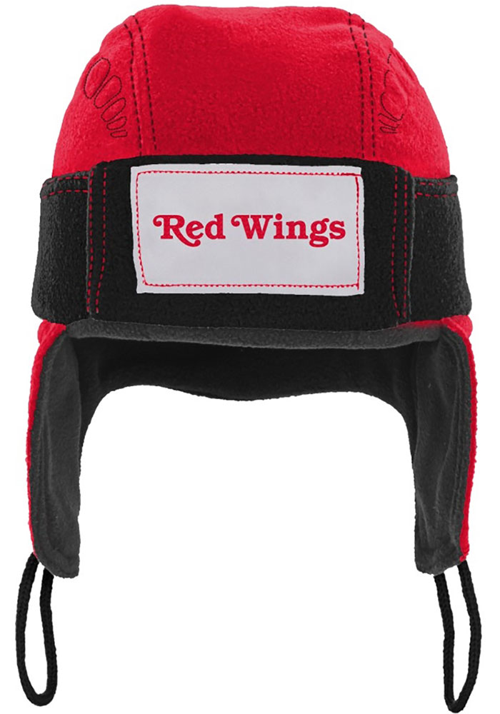 Detroit Red Wings Red Hockey Helmet Youth Knit Hat - Image 2