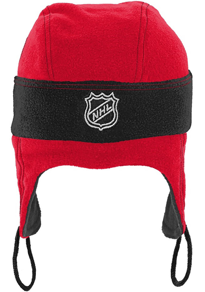 Detroit Red Wings Red Hockey Helmet Youth Knit Hat - Image 3