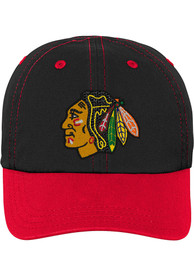 Chicago Blackhawks Baby Chainstitch Slouch Adjustable Hat - Black