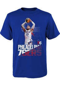 Ben Simmons Philadelphia 76ers Youth Splash Screen T-Shirt - Blue