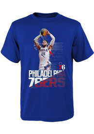 Ben Simmons Philadelphia 76ers Boys Outer Stuff Splash Screen T-Shirt - Blue