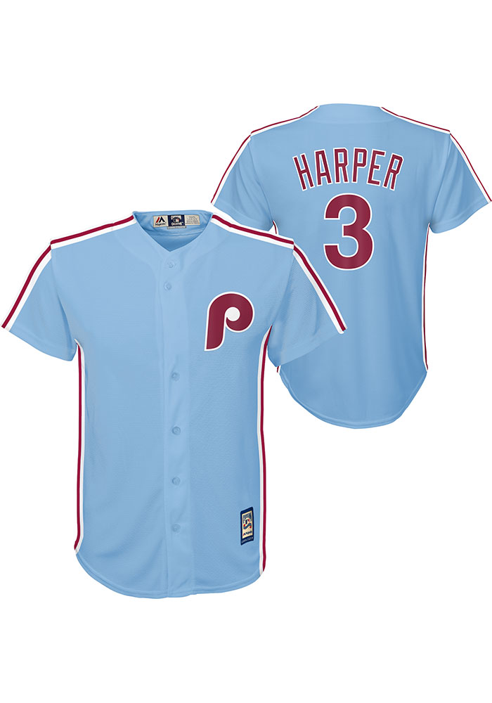 Outerstuff Bryce Harper Philadelphia Phillies #3 White Kids 4-7 Cool Base Home Player Jersey