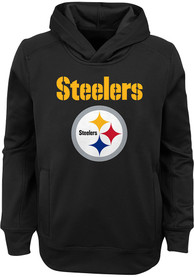 Pittsburgh Steelers Youth Goal Line Stand Hooded Sweatshirt - Black