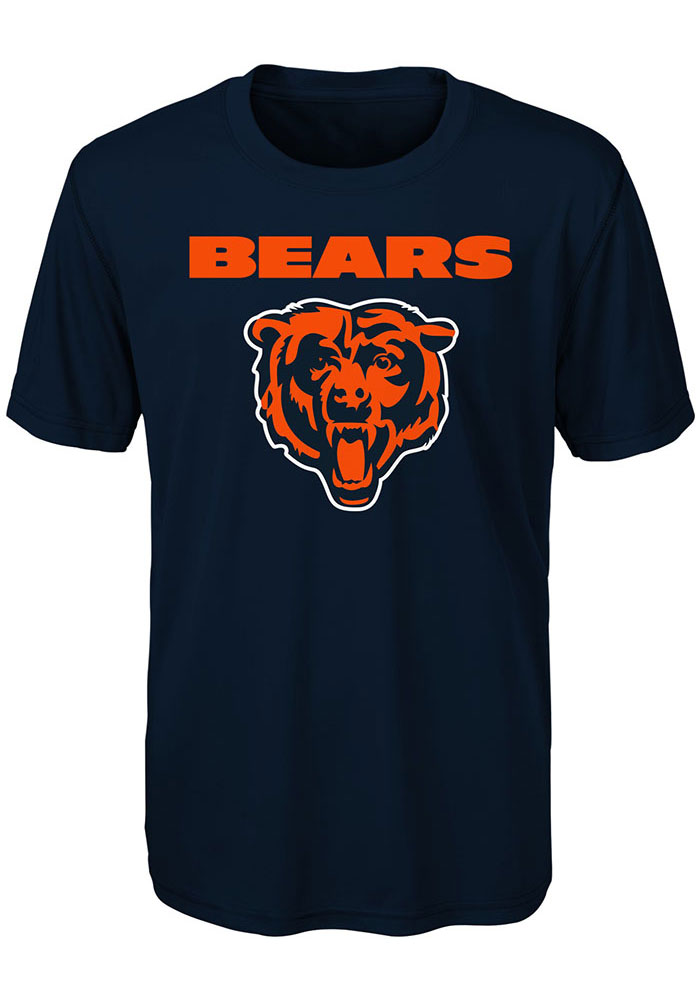 Chicago Bears Youth Navy Blue Goal Line Stand Short Sleeve T-Shirt - Image 1
