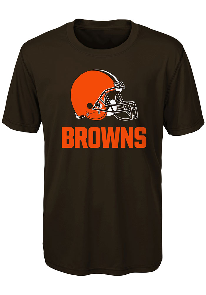 Cleveland Browns Youth Brown Goal Line Stand Short Sleeve T-Shirt - Image 1