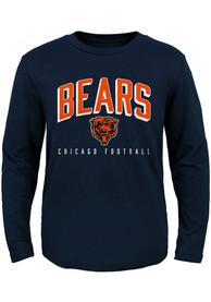 Chicago Bears Youth Arched Standard T-Shirt - Navy Blue