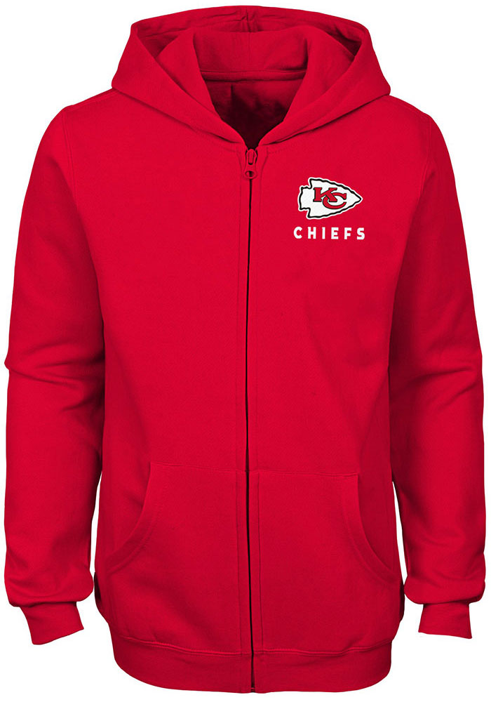 Kansas City Chiefs Girls Red Status Long Sleeve Full Zip Jacket - Image 1