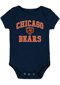Chicago Bears Baby #1 Design One Piece - Navy Blue