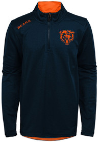 Chicago Bears Youth Unlock Quarter Zip - Navy Blue