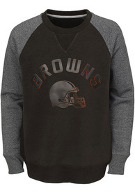 Cleveland Browns Youth Titanium Crew Sweatshirt - Charcoal