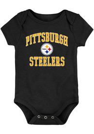 Pittsburgh Steelers Baby #1 Design One Piece - Black