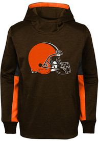 Cleveland Browns Youth Status Hooded Sweatshirt - Brown