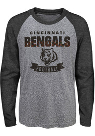 Cincinnati Bengals Youth Equipped T-Shirt - Grey
