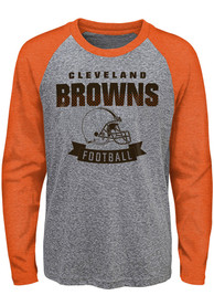Cleveland Browns Youth Equipped T-Shirt - Grey