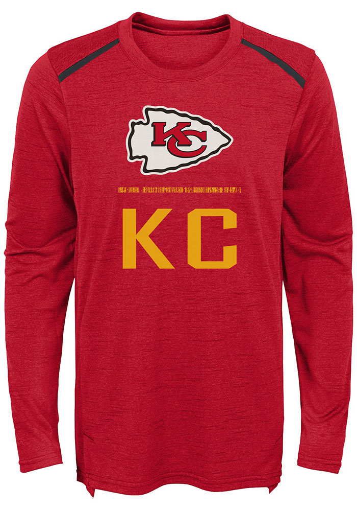Kansas City Chiefs Youth Red Static Long Sleeve T-Shirt - Image 1
