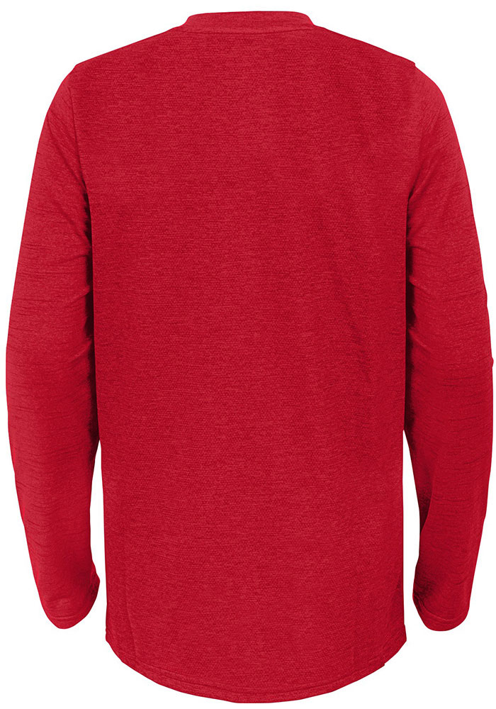 Kansas City Chiefs Youth Red Static Long Sleeve T-Shirt - Image 2