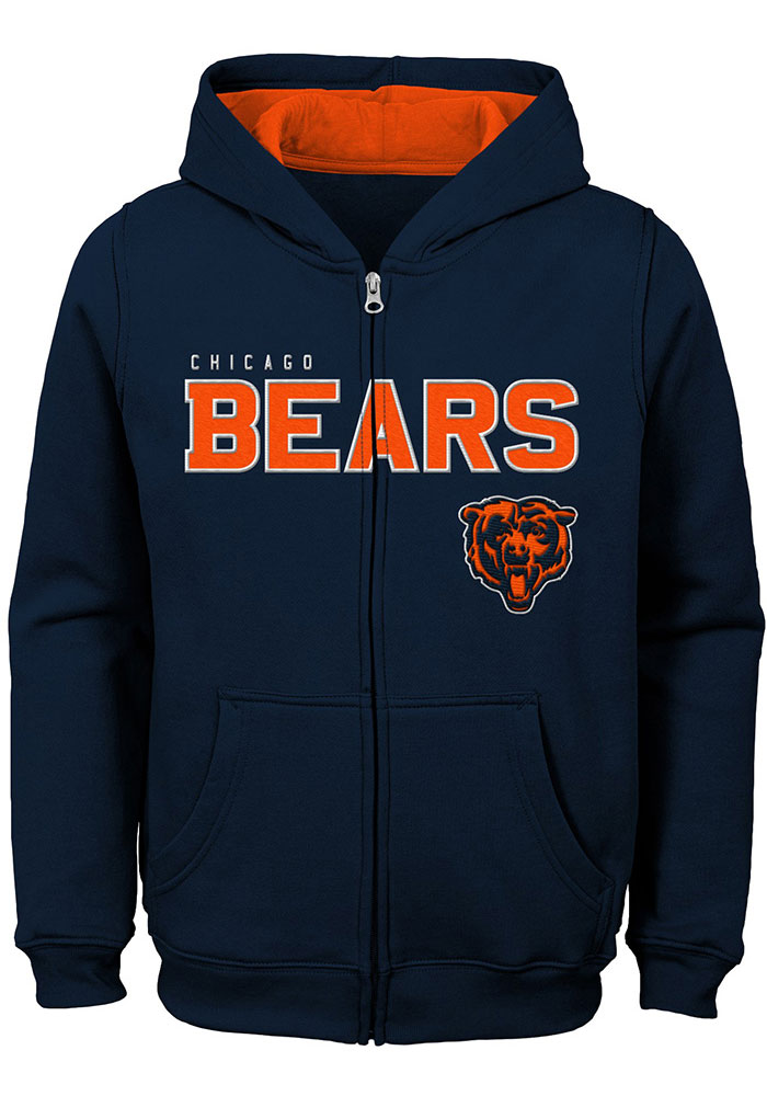 Chicago Bears Youth Green Stated Long Sleeve Full Zip Jacket - Image 1