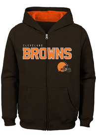 Cleveland Browns Youth Stated Full Zip Jacket - Brown
