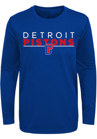 Detroit Pistons Youth Tactical Stance T-Shirt - Blue