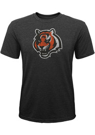 Cincinnati Bengals Youth Distressed Primary Fashion T-Shirt - Black
