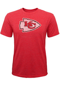 Kansas City Chiefs Youth Distressed Primary Fashion T-Shirt - Red