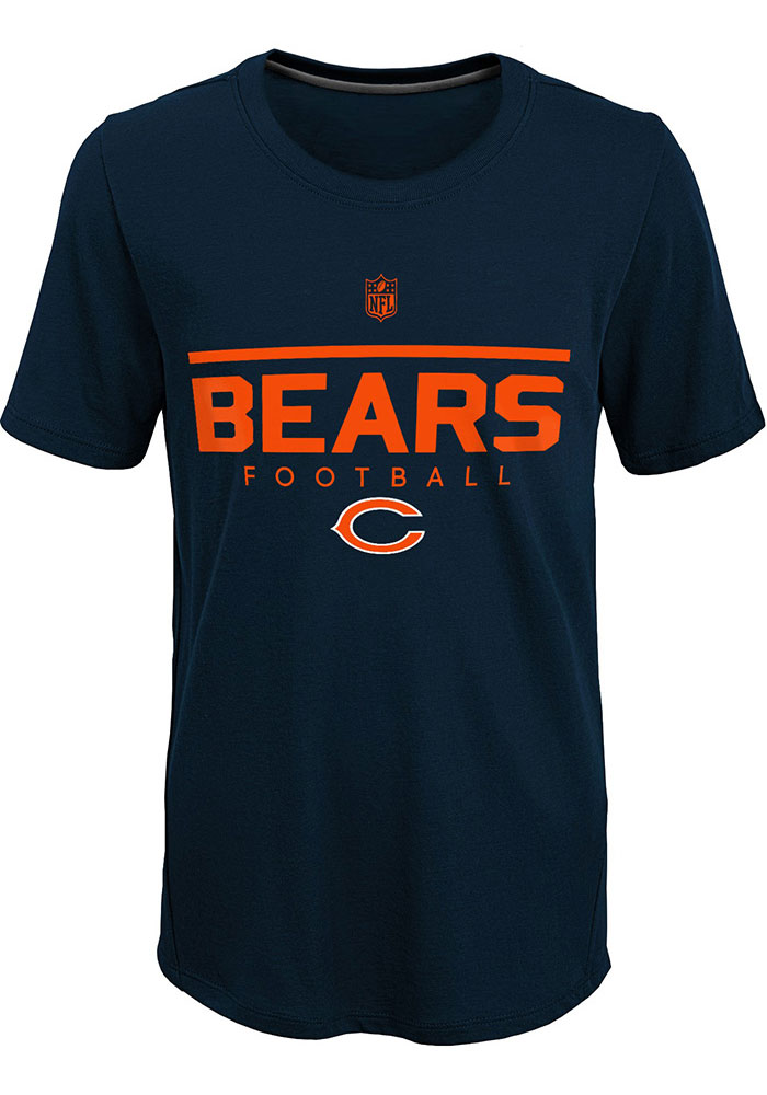 Chicago Bears Youth Navy Blue Certified Short Sleeve T-Shirt - Image 1