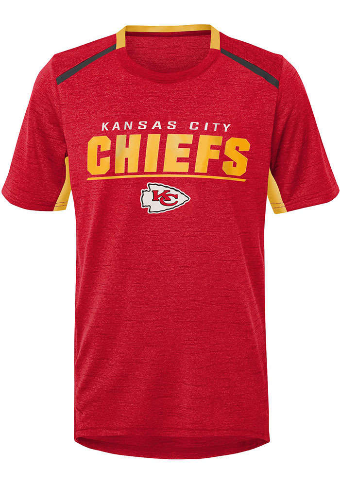 Kansas City Chiefs Youth Red Static Short Sleeve T-Shirt - Image 1