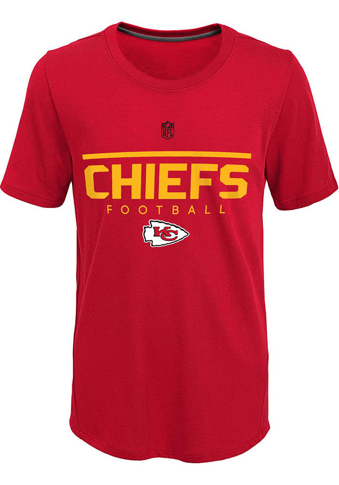 Kansas City Chiefs Youth Red Certified Short Sleeve T-Shirt - Image 1