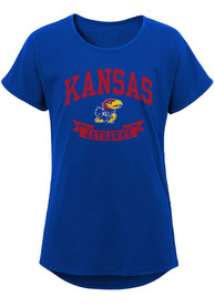 Kansas Jayhawks Girls Collegiate Banner T-Shirt - Blue