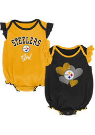 Pittsburgh Steelers Baby Celebration One Piece - Black