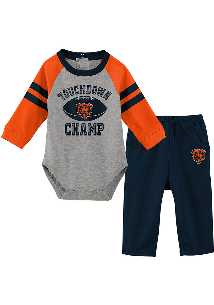 Chicago Bears Infant Touchdown Top and Bottom - Navy Blue