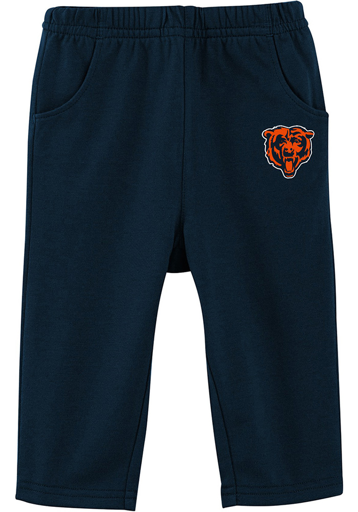 Chicago Bears Infant Navy Blue Touchdown Set Top and Bottom - Image 3