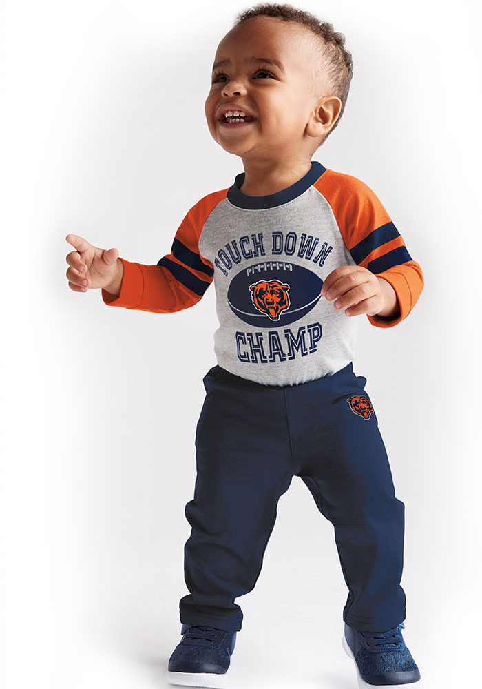Chicago Bears Infant Navy Blue Touchdown Set Top and Bottom - Image 4