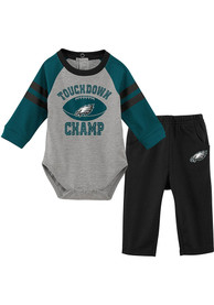 Philadelphia Eagles Infant Touchdown Top and Bottom - Teal