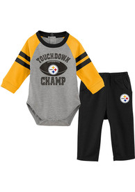 Pittsburgh Steelers Infant Touchdown Top and Bottom - Black