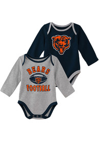 Chicago Bears Baby Trophy One Piece - Navy Blue