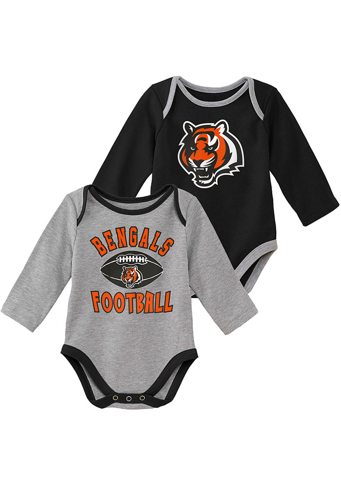 Cincinnati Bengals Baby Black Trophy One Piece - Image 1