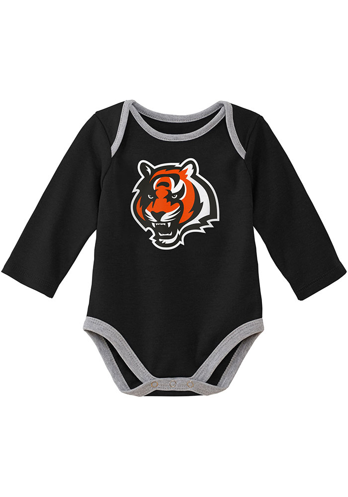 Cincinnati Bengals Baby Black Trophy One Piece - Image 2