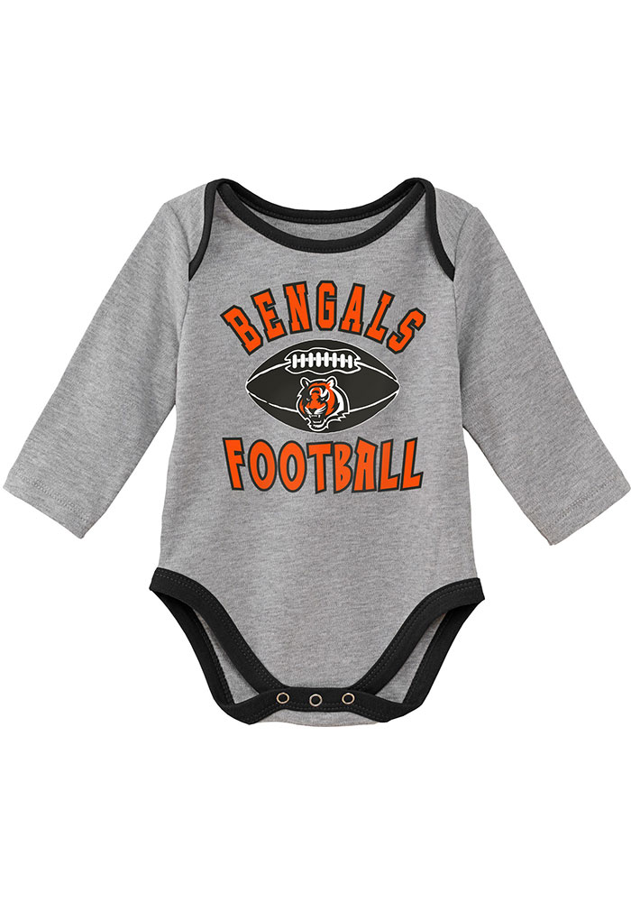 Cincinnati Bengals Baby Black Trophy One Piece - Image 3